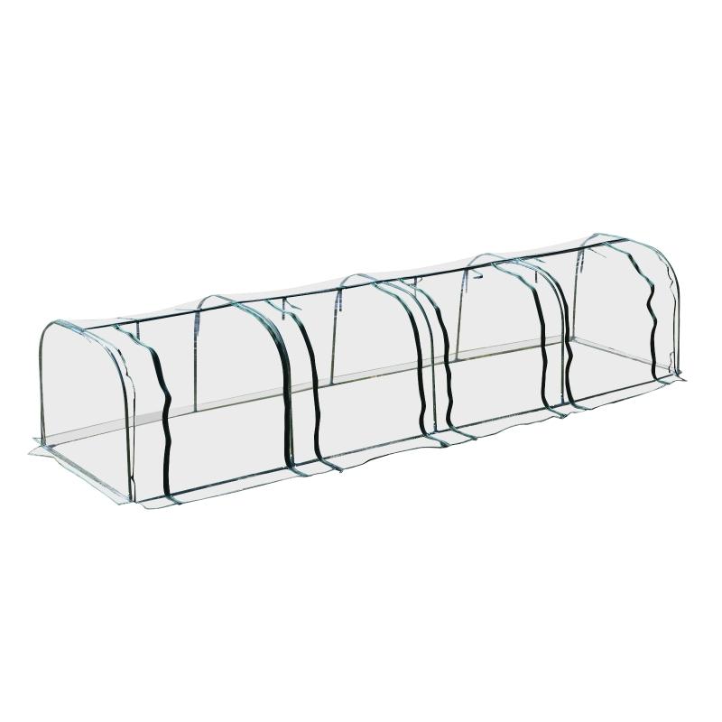 Outsunny® Invernadero Caseta 400x100x80cm para Jardín Terraza Cultivo de Plantas Semilla