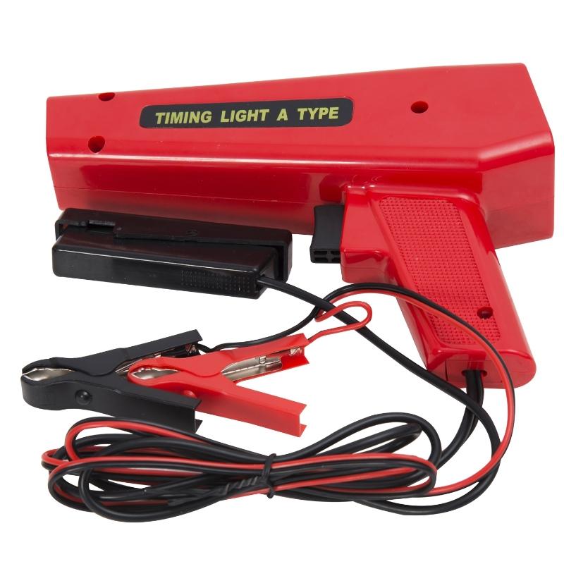 HOMCOM Pistola Estroboscopica 12V Motor Gasolina Lampara Xenon Punto De Encendido Color Rojo
