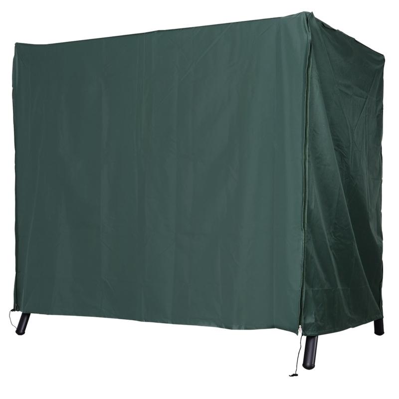 Outsunny Funda para Columpios de Exterior con Cremallera Cubierta Muebles para Exterior Ideal Columpios 205x124x164 cm Verde Oscuro