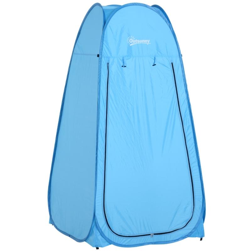 Outsunny® Tienda de Campaña 100x100x185cm Instantánea tipo Carpa Ducha Cambiador WC Impermeable - para Camping