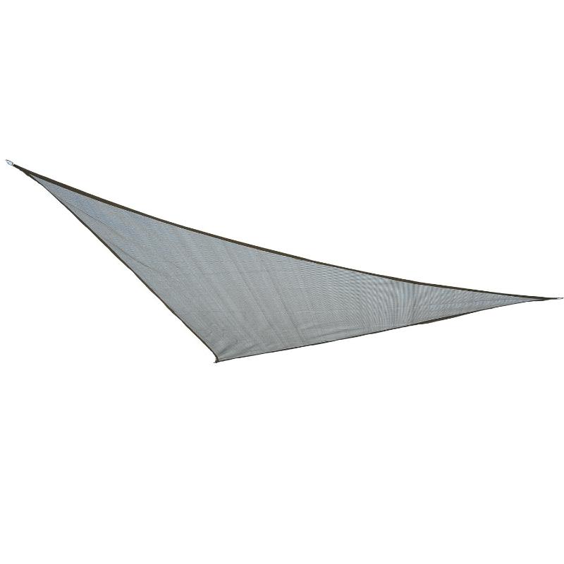 Outsunny Toldo Vela 3x3x3m Triangulo Color Gris Sombrilla Parasol Terraza Jardín Camping