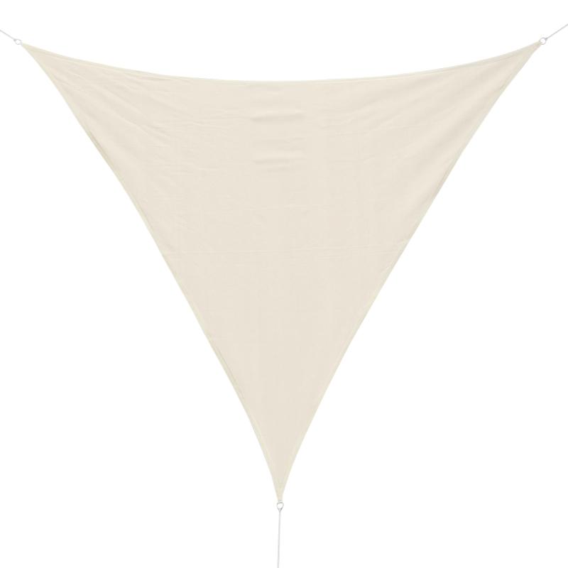 Toldo Vela 3x3x3m Triangulo Color Crema Sombrilla Parasol Terraza Jardin Camping