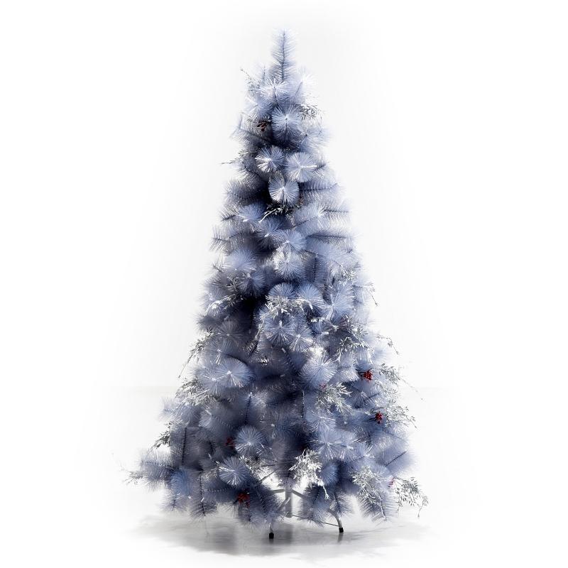 HOMCOM Árbol de Navidad 150cm Artificial Árbol de Pino Decoración Navideña con Piezas de Decoración 222 Ramas Gris Metal PET