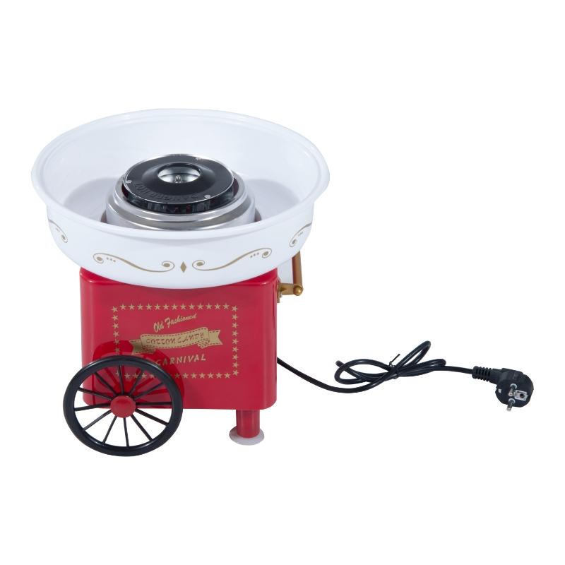 HOMCOM Máquina de Algodón de Azúcar Eléctrica Profesional Estilo Retro Regalo Infantil para Fiestas Cumpleaños  Acero Inox. Aluminio 450W-550W Cotton Candy Machine 30x30x28cm Rojo