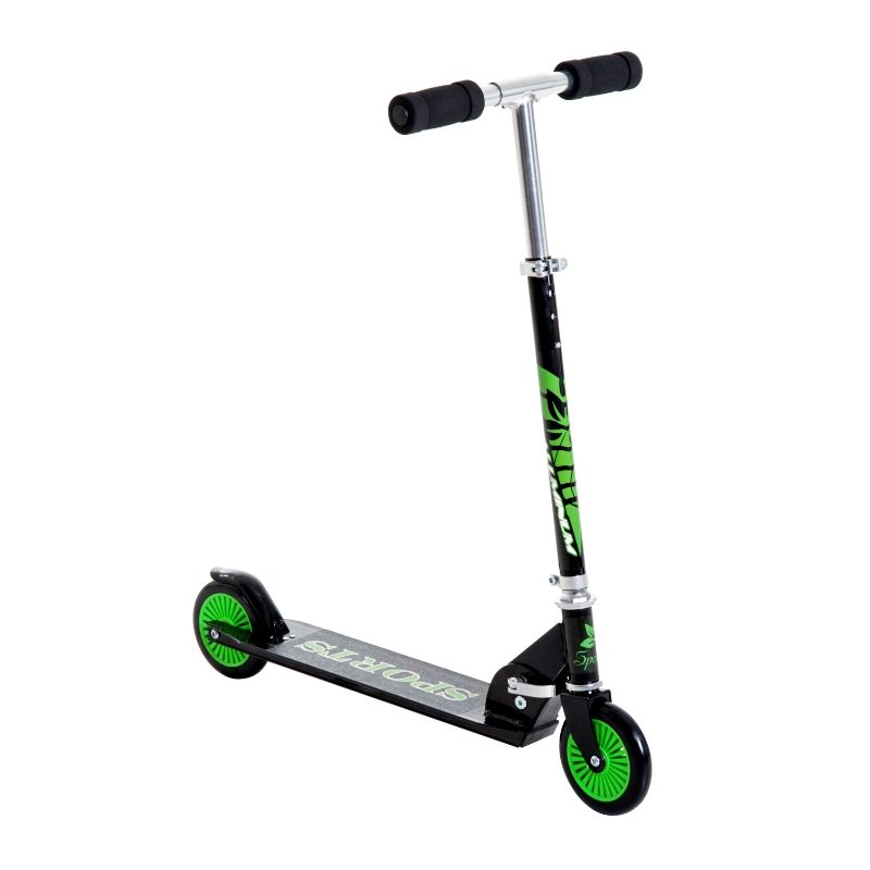 HOMCOM Adjustable Aluminium Kids Scooter-Green