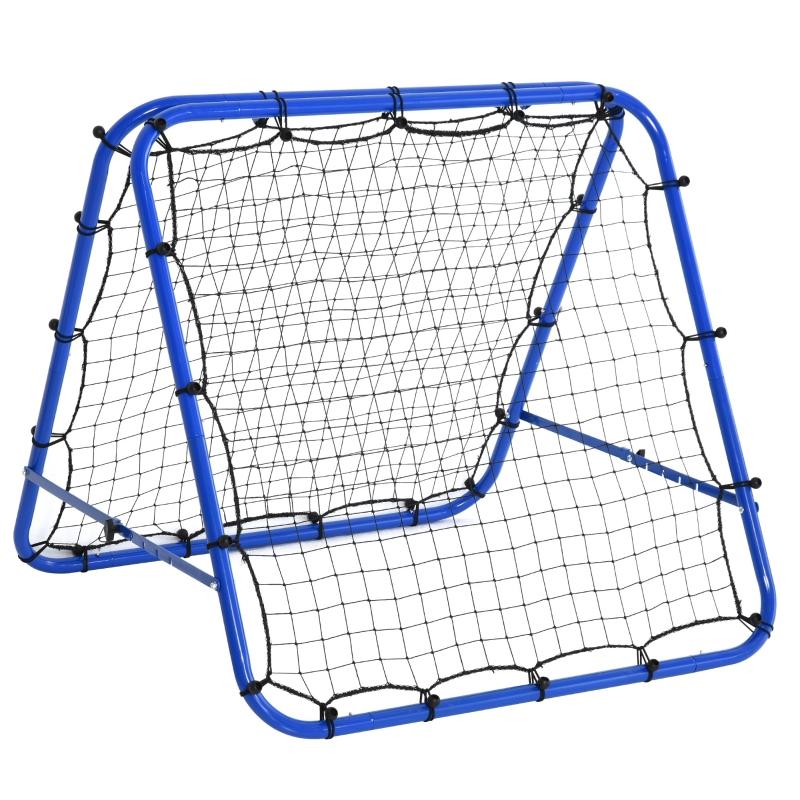 HOMCOM PE Mesh Double-Sided Outdoor Rebounder Net Blue