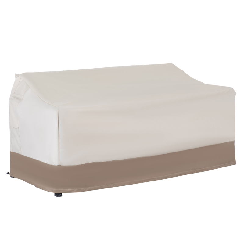 Outsunny Funda Protectora para Banco 2-3 Plaza Cubierta de Muebles Impermeable 152x87x59/79cm 600D Tela Oxford