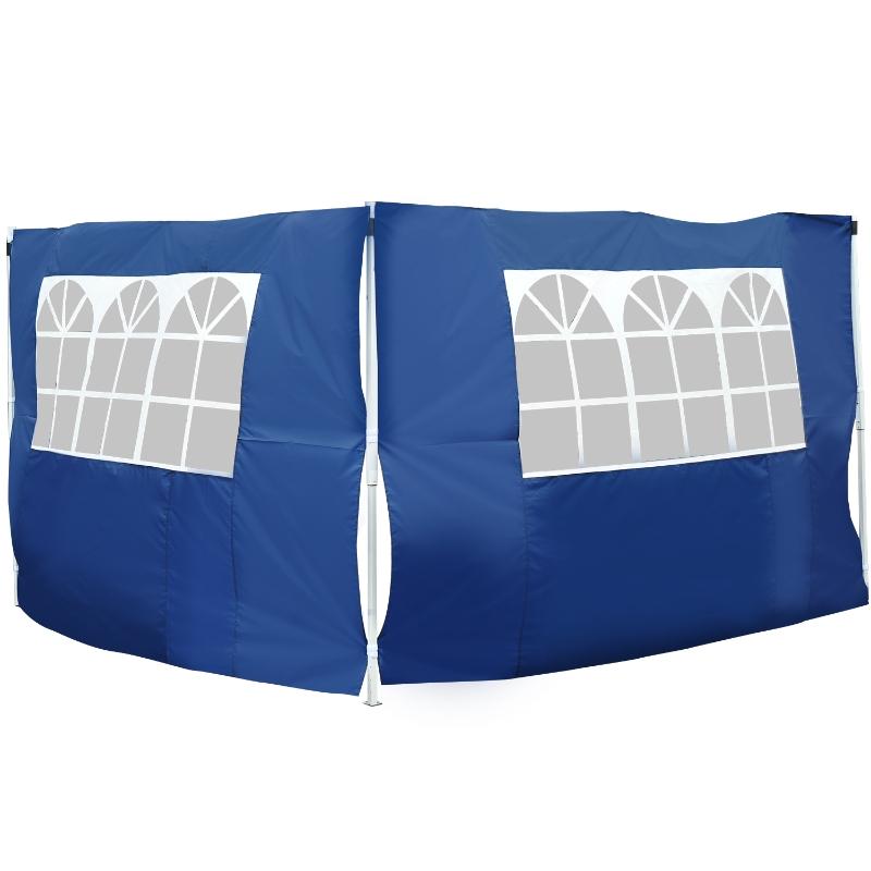 Outsunny 2 Paredes Laterales con Ventanas para Carpa Pabellón o Gazebo de Tela Oxford 3x2 m Azul
