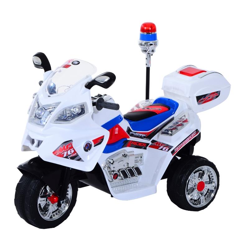 HOMCOM Moto Eléctrica Infantil Coche Triciclo Niño Moto de Juguete Batería 6V Niños 3-8 años 112x51x73cm