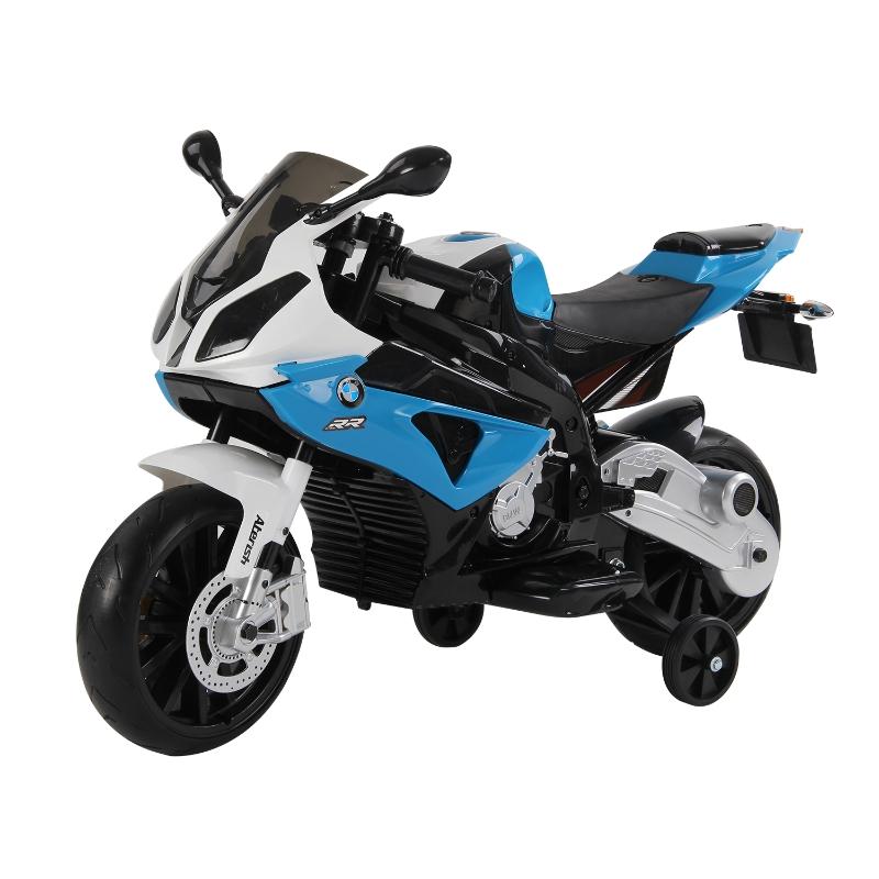 HOMCOM Moto Electrica Infantil BMW 3-8 Años Moto de Juguete Eléctrico Batería 12V Doble Motor 110x47x69cm