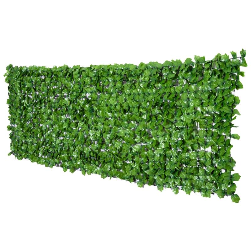 Outsunny Seto Artificial en Rollo 3x1m para Valla Balcón Planta Decorativa