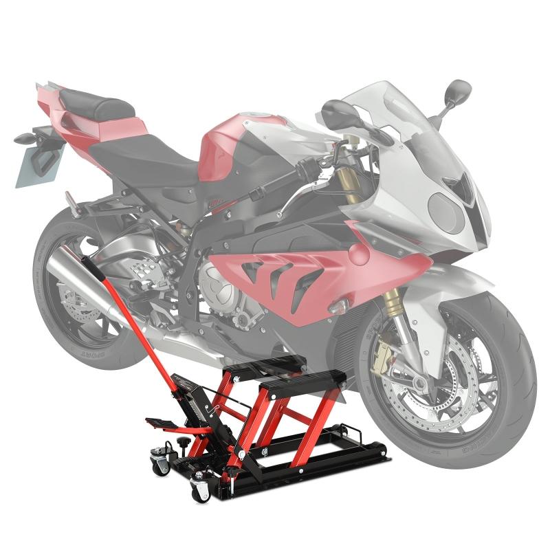 DURHAN Gato Hidráulico de Motocicletas Elevador ATV para Garaje Pista con Plataforma Almohadilla Antideslizante de Alta 110x36x67cm