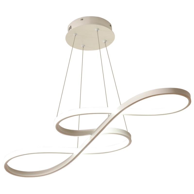 HOMCOM Lámpara Colgante LED Moderna 70W Lámpara de Techo con Altura Ajustable y Luz de 3 Colores 3000-6500K para Comedor Salón Dormitorio 82x32x100 cm Blanco