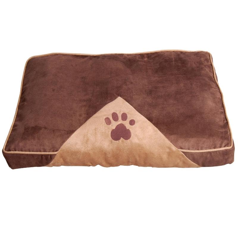 PawHut Cama para Mascotas Colchón de Espuma de Perro Gato con Funda Extraíble y Lavable con Cremallera Parte Inferior Antideslizante 100x70 cm Marrón