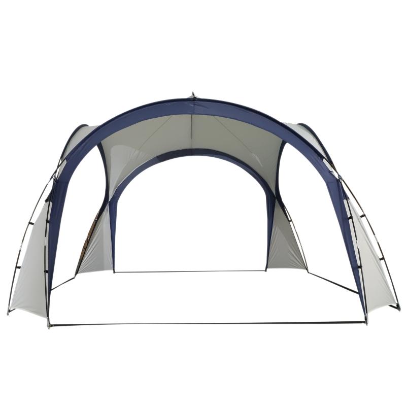 Outsunny Carpa para Camping Picnic 3,5x3,5m Toldo Abierto Impermeable Protección UV Tienda de Fiesta Gazebo para Eventos