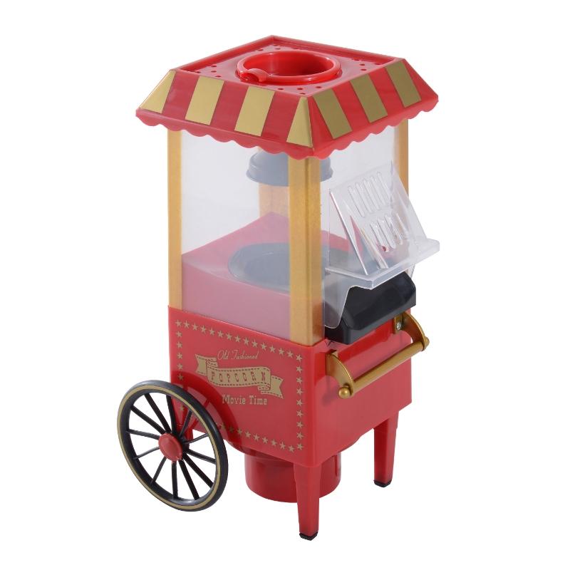 HOMCOM Máquina de Palomitas de Diseño Vintage Palomitero Decorativo con Forma de carrito  22x19x39cm Rojo