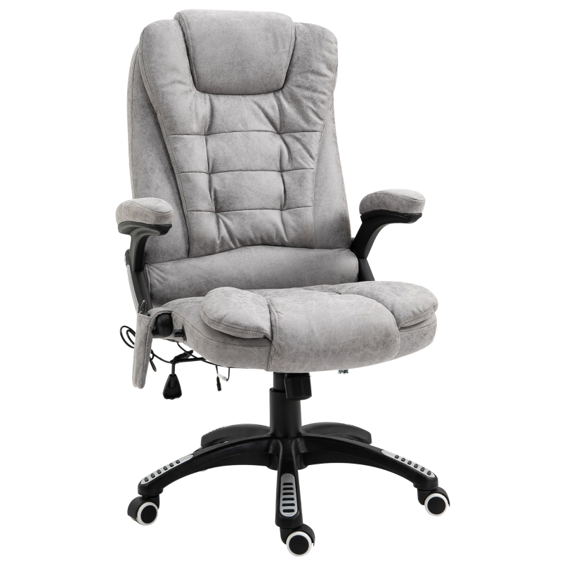 Vinsetto PU Leather 6-Point Massage Office Recliner Chair Grey