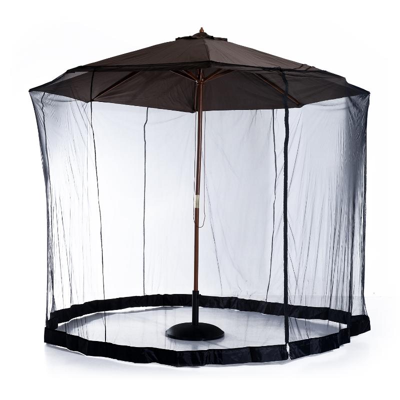 Outsunny 2.3 m Umbrella/Table Mosquito Net-Black