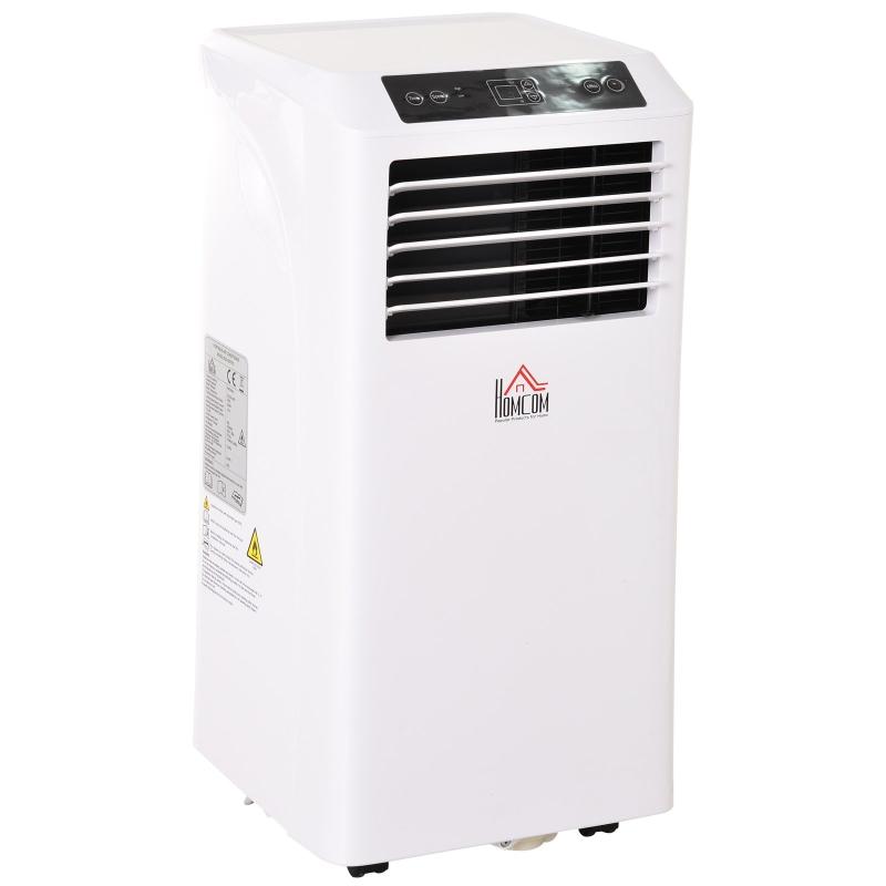 Homcom® Klimatyzator Przenośny Mobilna Klimatyzacja 3 w 1 Osuszanie Powietrza Pilot 24h Timer Abs