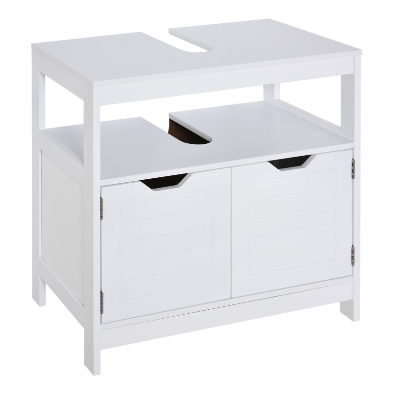Szafka podumywalkowa Nowoczesna szafka łazienkowa z podwójnymi drzwiami Szafka pod umywalkę biały