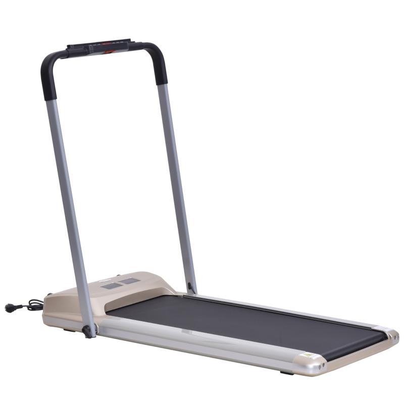 Bieżnia elektryczna z wyświetlaczem LCD, składany sprzęt fitness 1-10Km/h Stal HOMCOM®
