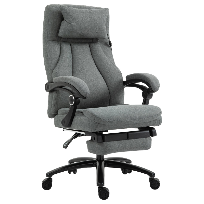 Vinsetto Krzesło biurowe z masażem Fotel biurowy z regulacją wysokości