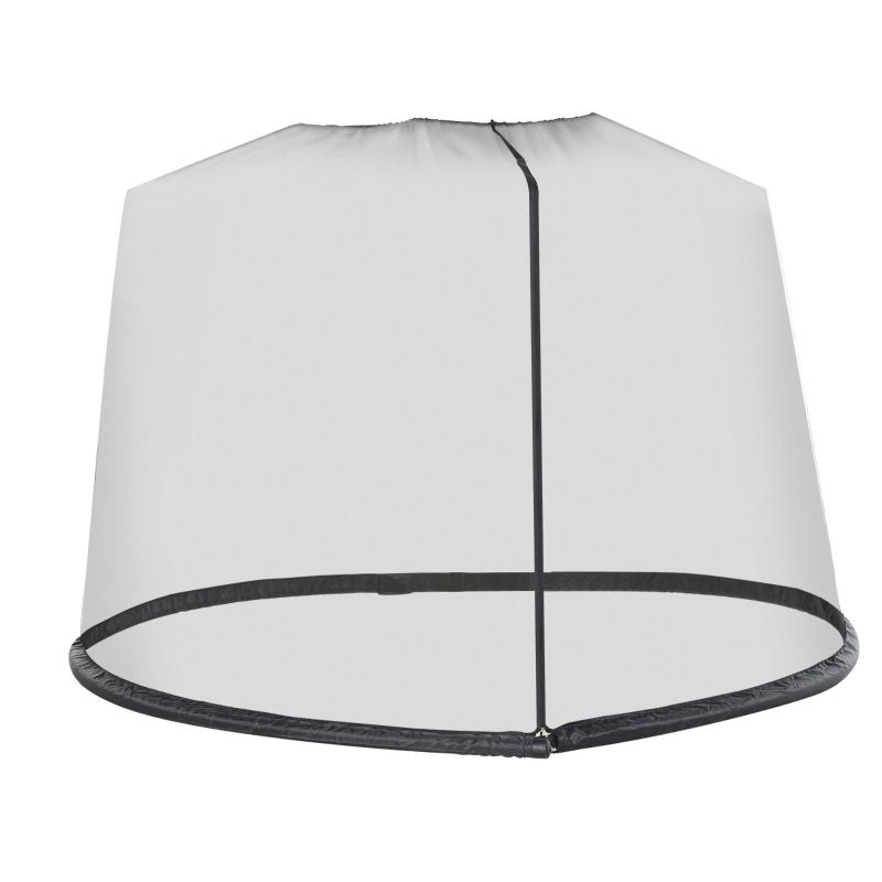 Moskitiera do parasola ogrodowego 3 m czarna Outsunny