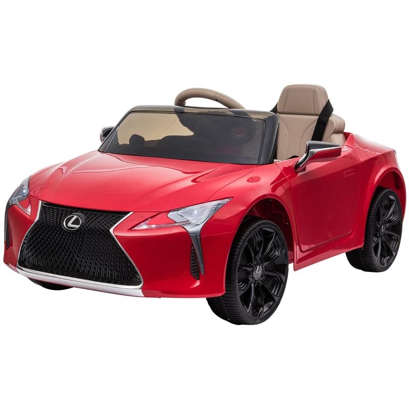 Samochód dziecięcy Lexus samochód elektryczny dla dzieci z muzyką MP3 światłami czerwony