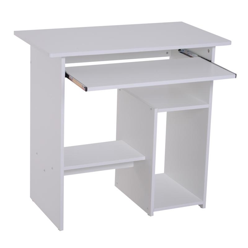 Homcom® Biurko Komputerowe Stolik Gamingowy Stolik na Komputer Biały