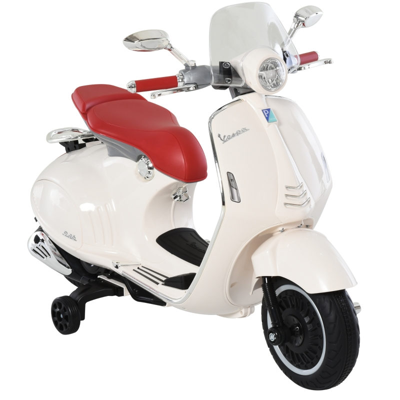 Pojazd elektryczny motocykl dziecięcy z oświetleniem muzyka MP3 3-6 lat PP kolor biały