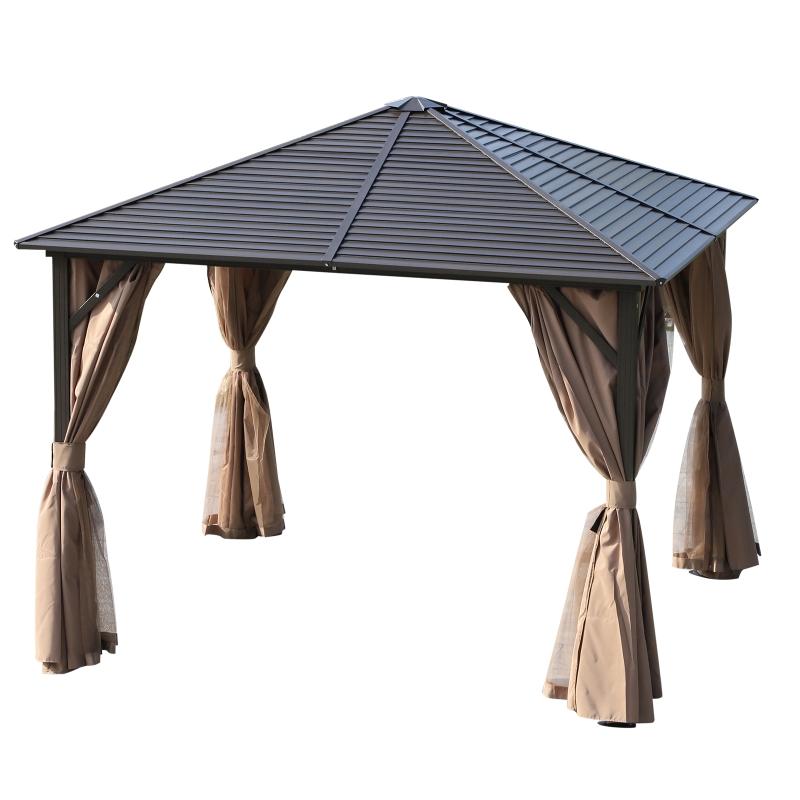 Namiot ogrodowy pawilon namiot imprezowy namiot rozkładany wodoodporny z 4 podwójnymi ścianami bocznymi