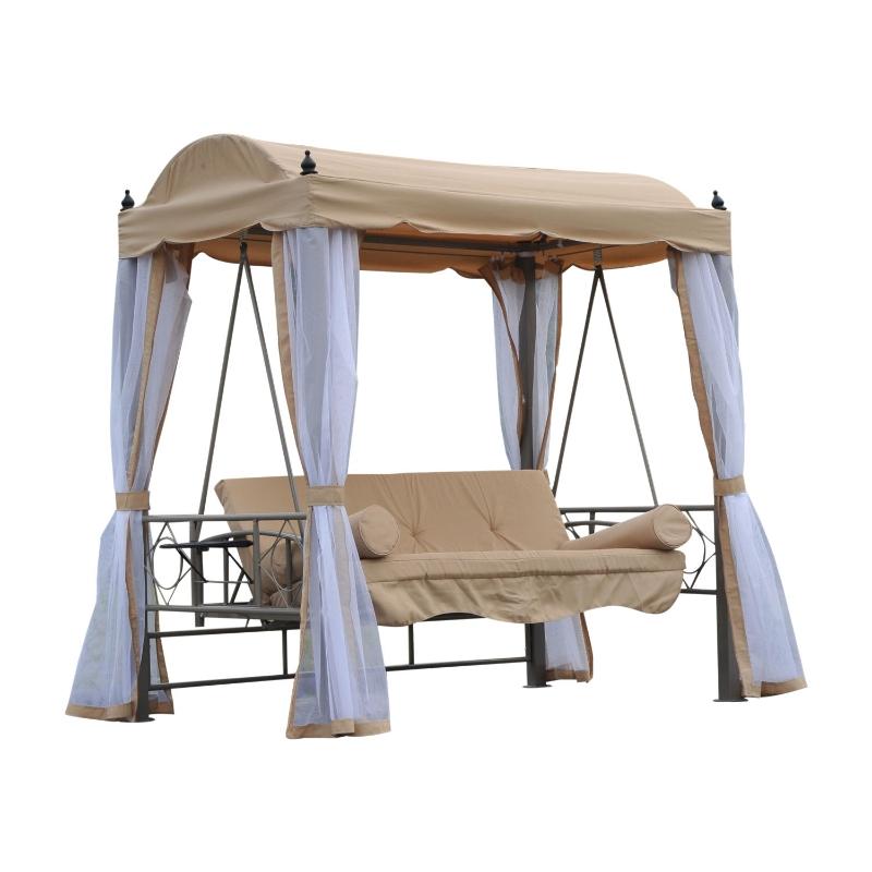huśtawka z dachem huśtawka ogrodowa łóżko ogrodowe bujana ławka huśtawka 3-osobowa
