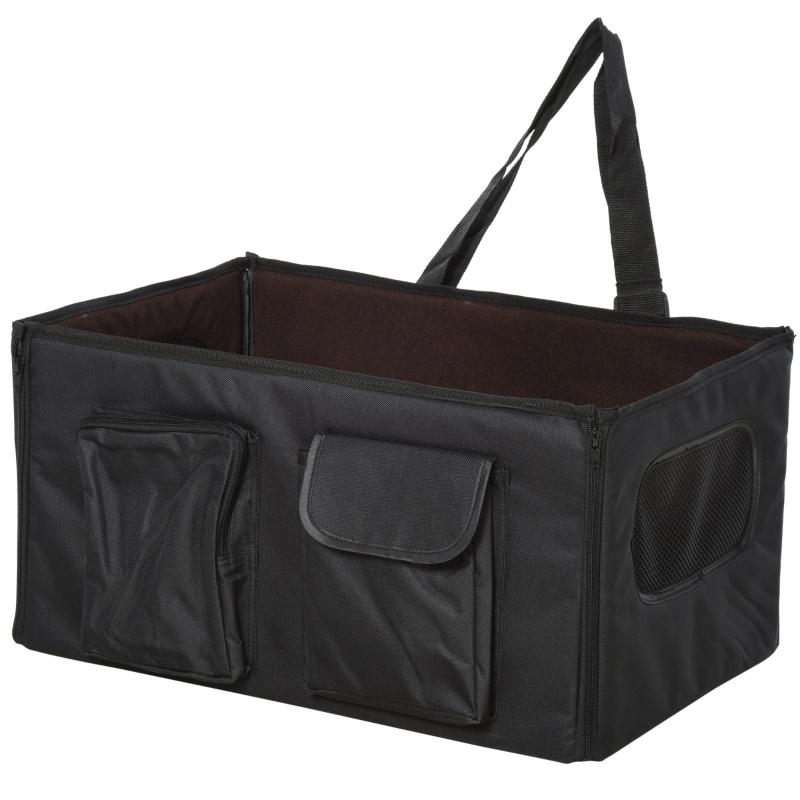 Torba dla psa budka dla psa składana torba podróżna transporter fotelik samochodowy Oxford czarna