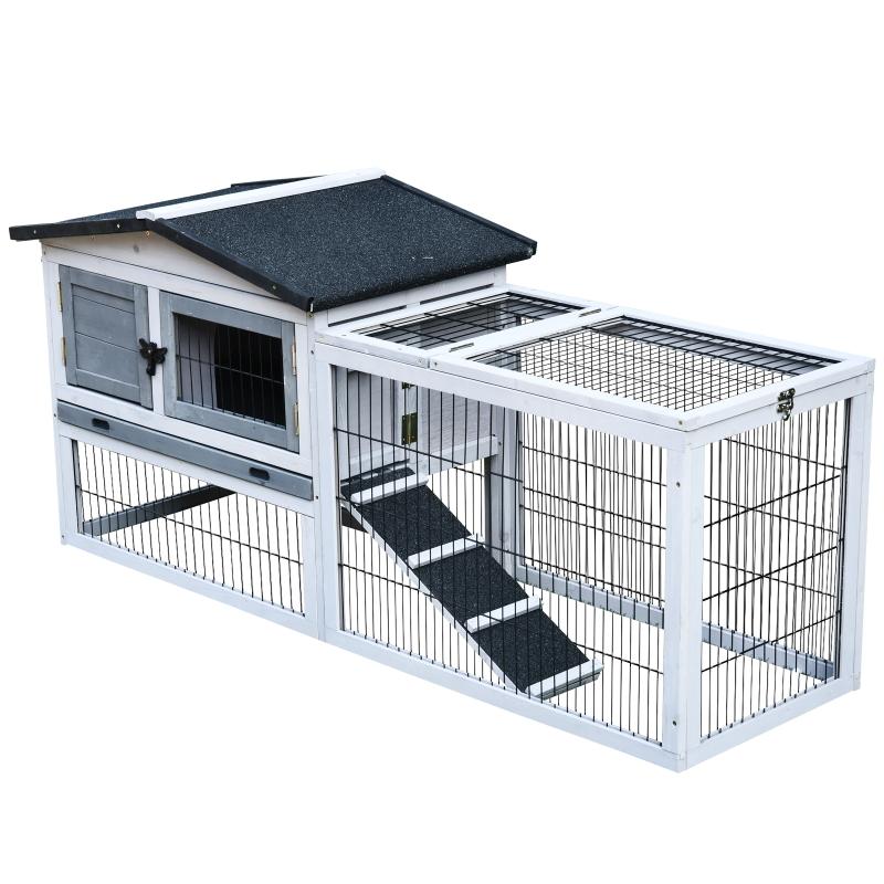 Klatka dla królików klatka dla królika kombinacja wybieg dla małych zwierząt willa dla królika jasnoszary