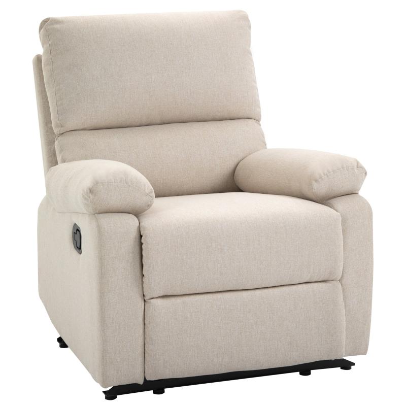 Fotel relaksacyjny TV fotel jednoosobowy sofa 150° uchylny fotel TV pościel HOMCOM®