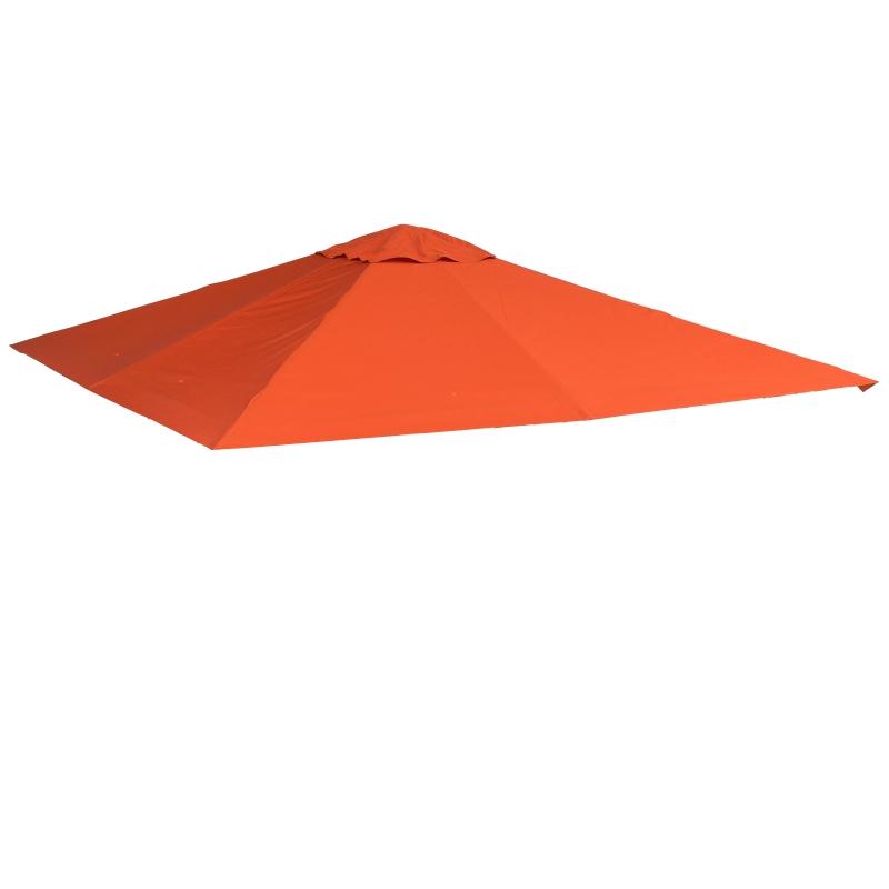 Outsunny® Zadaszenie Pawilonu Poszycie Dach Poliester Pomarańczowy 3x3m