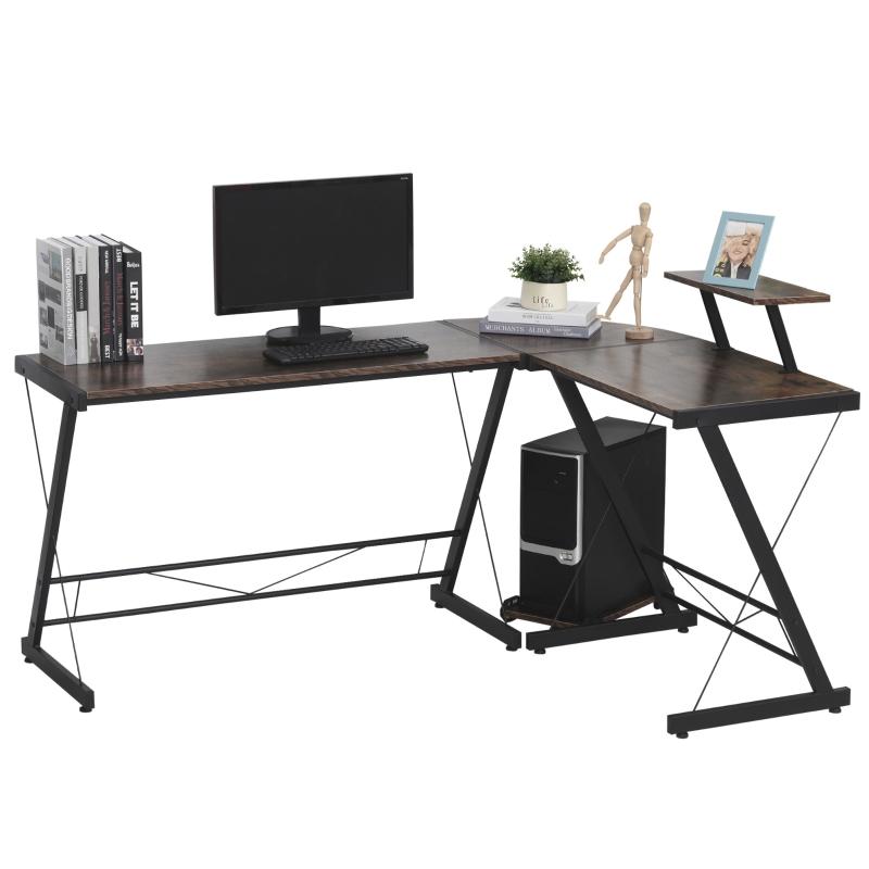 Biurko komputerowe biurko narożne biurko wzornictwo przemysłowe MDF + metal