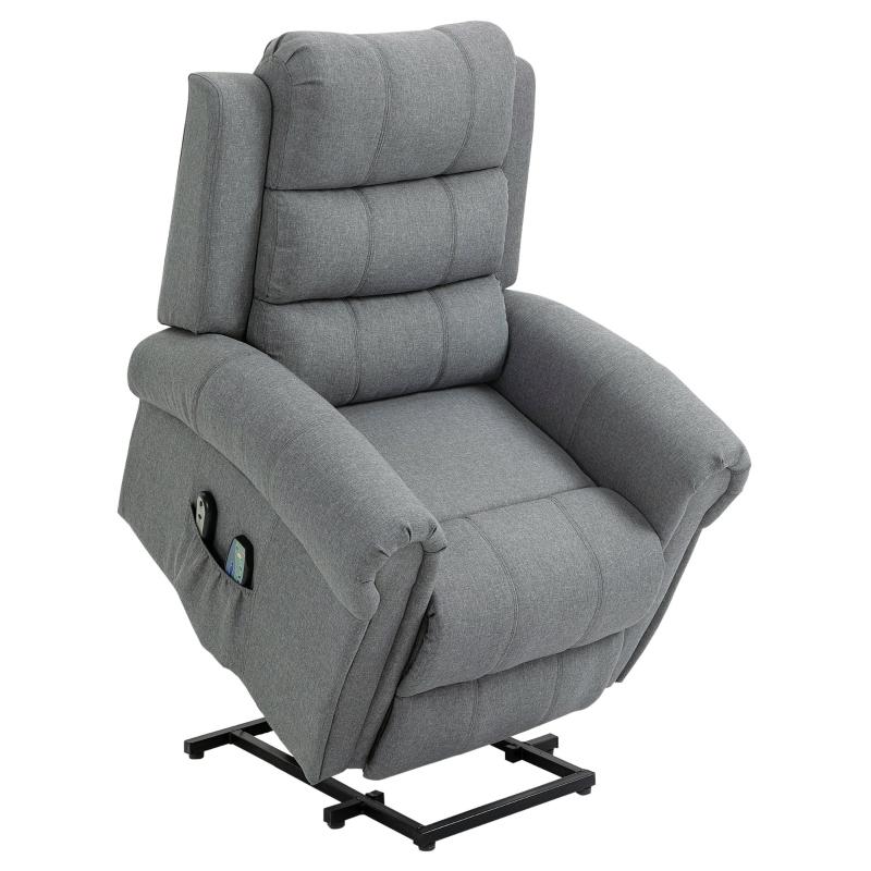 Fotel do masażu funkcja podgrzewania fotel masujący funkcja wstawania pilot tkanina