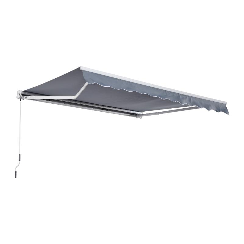 Markiza Markiza aluminiowa Markiza aluminiowa składana 3x4 m ochrona przed słońcem balkon szary