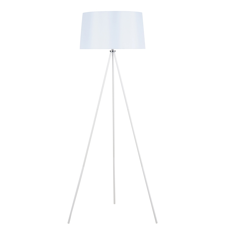 HOMCOM® LAMPA STOJĄCA TRÓJNÓG LAMPA PODŁOGOWA 40 W metal biała ∅ 48 x 156 cm