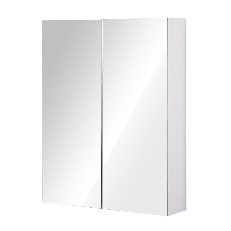 Szafka półka łazienkowa wisząca lustro 75 x 60 x 15 cm HOMCOM