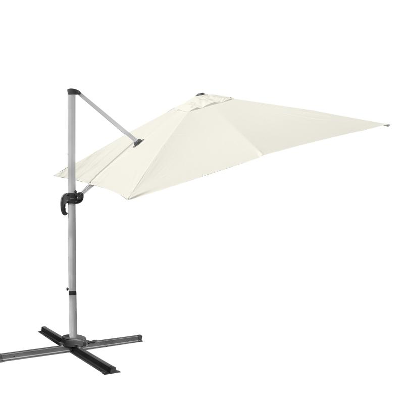 Parasol rzymski parasol lampowy parasol ogrodowy regulacja 0–60° zakres obrotu 360° aluminiowy