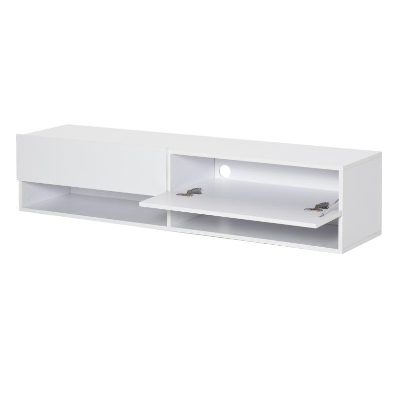 Szafka RTV niska komoda szafka ścienna z szufladami biały