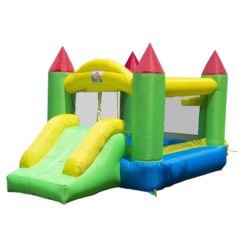 HOMCOM Nylon Inflatable Bouncy Castle Multi-Colour