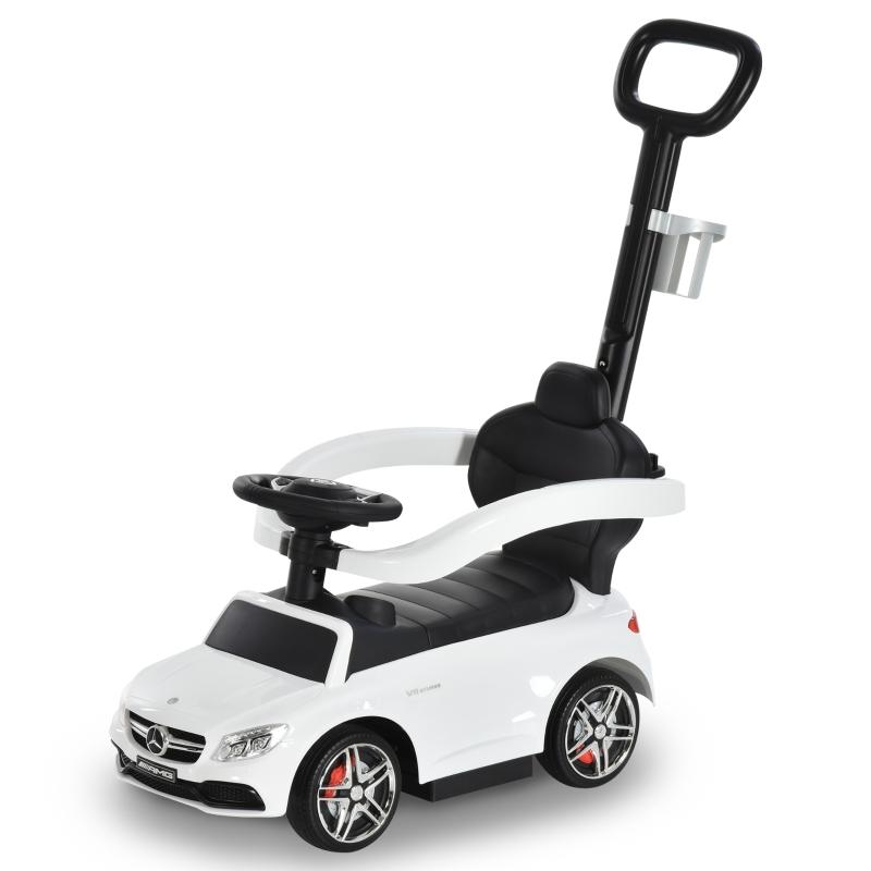 HOMCOM Toddlers Licensed PP Mercedes-Benz Ride On Stroller White