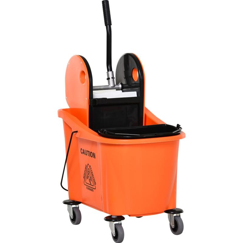 Wózek do sprzątania Wiadro na kółkach Wiadro do sprzątania Wózek do mycia podłóg z wyciskarką 36 litrów