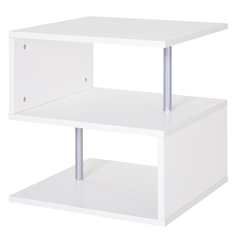 HOMCOM 50Lx50Wx50H cm Side Table-White