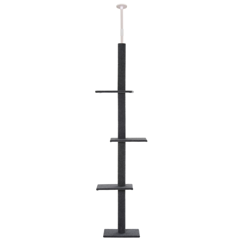 PawHut 4-level Cat Tree Condo with Covered Scratching Posts Grey