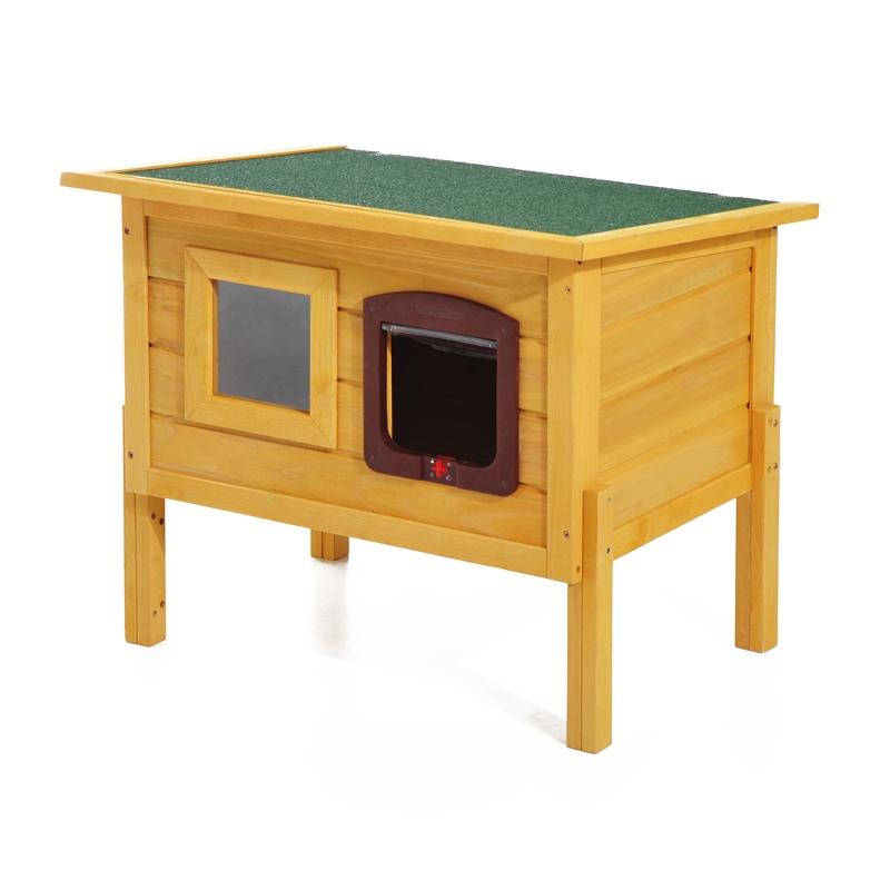 Pawhut 70L×51.5W×60H cm Wooden Pet House