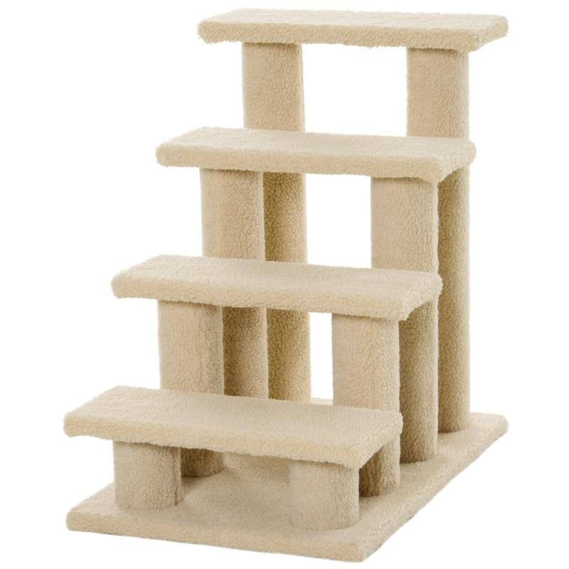 Pawhut Cat Tree Ladder 63.5L 43W 60H (cm)-Light Brown